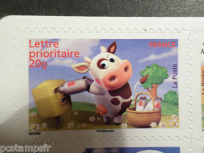 FRANCE 2007, timbre 4091 AUTOADHESIF 136, SOURIRES, VACHE, COW, MNH STAMP