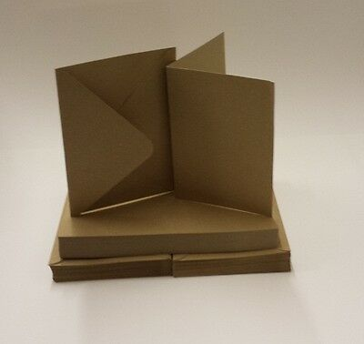 100% Recycled Kraft Card Blanks 280gsm & envelopes A6 5x5 5x7 6x6 Various Packs