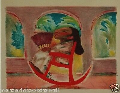 Original 1933 PICTURE BOOK Litho~ ROCKING CHAIR ~ JEAN CHARLOT + Inscrition Page