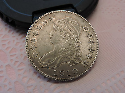 1810 Capped Bust Half Dollar 50c. silver USA Very Choice Almost Uncirculated AU