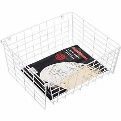 LETTERBOX CAGE Post Box ,Door Letter Mail Guard WHITE