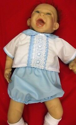 "DREAM BABY BOYS 0-3 6-12 MONTHS SPANISH BOYS SUIT SET OR 20-24"" REBORN dolls"