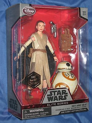 STAR WARS: THE FORCE AWAKENS Die Cast Figure Disney Exclusive ~REY / BB-8
