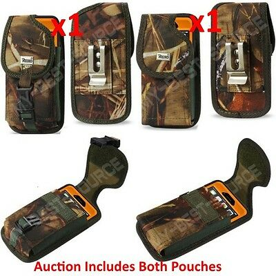 X2 Holster Pouch TO fit Heavy Duty Cases FOR ALL Large Smart Phone w/Belt Clip