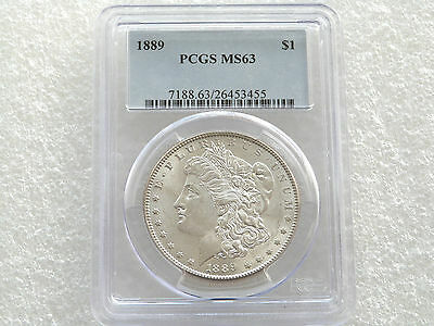 1889 United States Morgan $1 One Dollar Silver Coin PCGS MS63