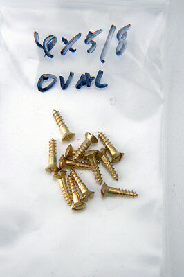 "Wood Screws Oval Head Slotted Brass #6X5/8"" WSBRASOVAL658"