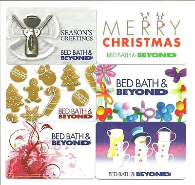 Lot (6) Bed Bath & Beyond Gift Cards No $ Value Collectible A