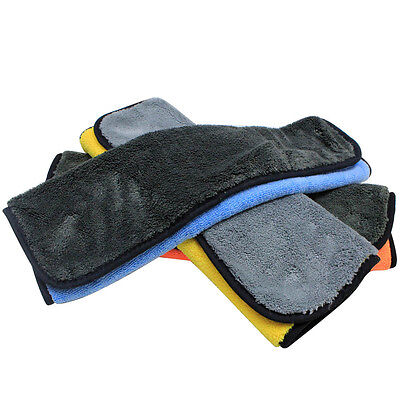800gsm 45cmx38cm Super Thick Plush Microfiber Car Cleaning Cloths for Car Care