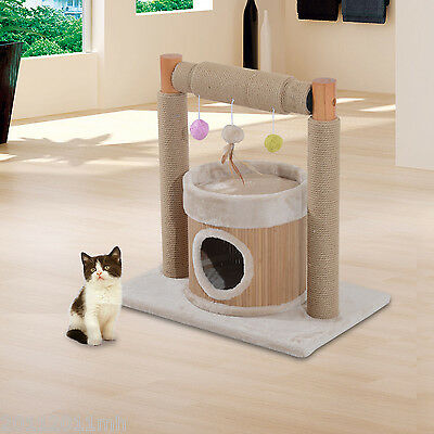 """24.8"""" Cat Tree Scratching Kitty Furniture Scratch Post Pet Kitten House Play Toy"""