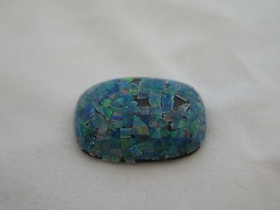 Awesome 18mm x 25mm Mosaic Opal Cabochon Doublet