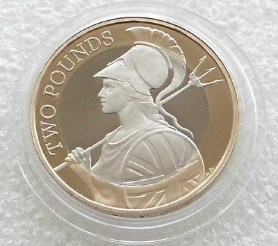 2015 British Britannia Definitive £2 Two Pound Proof Coin