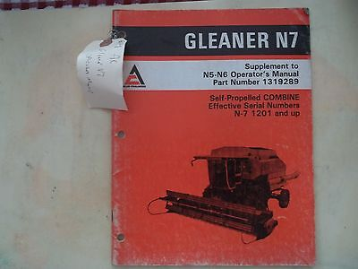Supplement to n5 n6 operators manual for gleaner n7 self propelled supplement to n5 n6 operators manual for gleaner n7 self propelled combine publicscrutiny Images