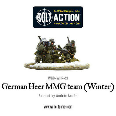 Warlord Games Bolt Action BNIB German Heer MMG Team (Winter) WGB-WHR-21