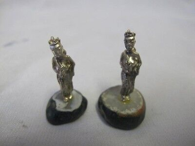 Vintage Solid Silver African Women X 2 Miniature Africa