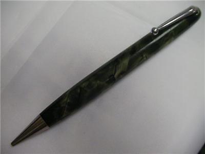 Vintage Mabie Todd Blackbird Green Pearl Rotary Pencil