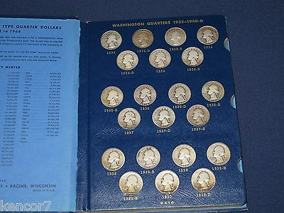 1932-1964PDS Washington Silver Quarter complete set of 83 coins Whitman E2076