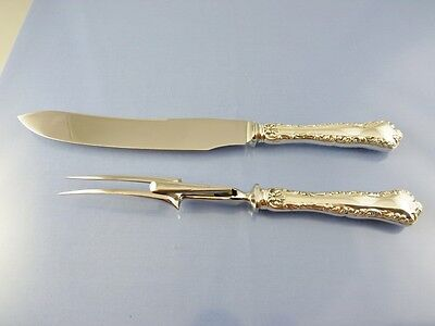 LOUIS XV 1914 SMALL GAME CARVING SET KNIFE & FORK by BIRKS STERLING