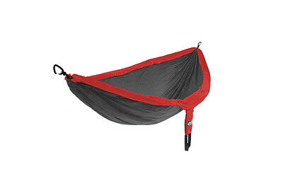 Eagles Nest Outfitters ENO DoubleNest Hammock Red/Charcoal Grey