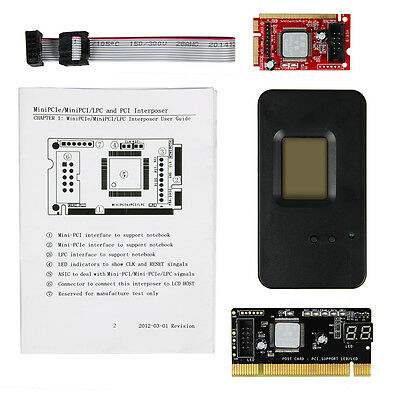 Debug king III diagnostic test post debug card  Mini PCIe LPC 3-in-1 interposer