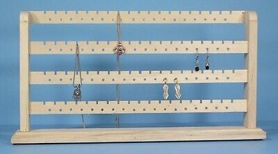 SOLID WOOD 148 Pc EARRING BRACELET JEWELRY RACK Display Natural UNFINISHED NEW