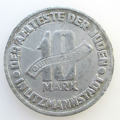 3rd Reich Getto Litzmannstadt Lodz 10 mark 1943