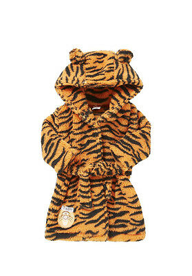 New Disney Baby Boy Girl Tigger Hooded Dressing Gown Robe Bathrobe 0 - 1 Month