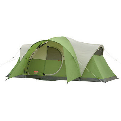 COLEMAN Montana 8 Person WeatherTec Family Camping Tent w/ Carry Bag | 16' x 7'