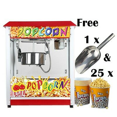 Large Commercial Theatre Electric Retro Party Popcorn Machine Maker Cinema Style