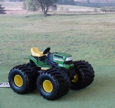 "John Deere ""Monster Treads"" Diecast Miniature Toy Ride On Lawn Mower Scale 1/32"