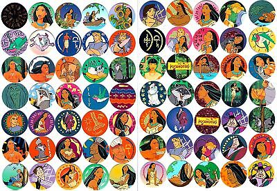 POGS - Lot Complêt 70 pogs POCAHONTAS DISNEY Dont BRONZE OR et ARGENT (Mint)