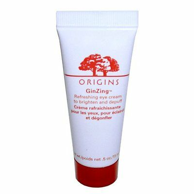 New ORIGINS GinZing Refreshing Eye Cream Brighten and Depuff Full Size .5oz