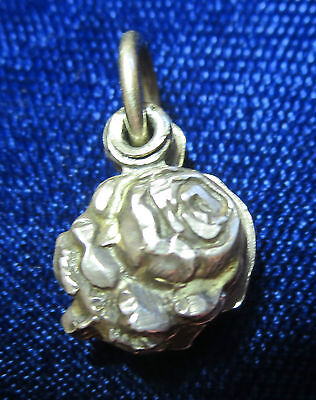 """sterling  small charm pendant rose opens Jesus Mother Mary 3 part 1/2"""""""