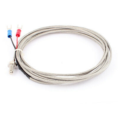 K Type Temperature Control Thermocouple Sensor Probe Cable 0 to 400C 10Ft 2pcs