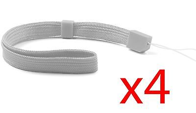 4x Grey Hand Wrist Strap For Wii Remote Controller PSP DSL 3DS DSi 2DS Switch