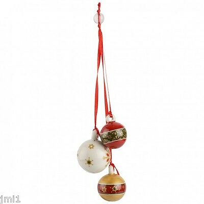 Villeroy & Boch MY CHRISTMAS TREE Ornament:  Trio of Balls # 5469