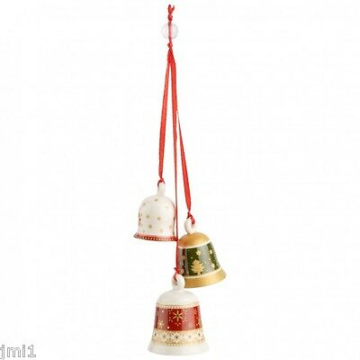 Villeroy & Boch MY CHRISTMAS TREE Ornament:  Trio of Bells # 5468