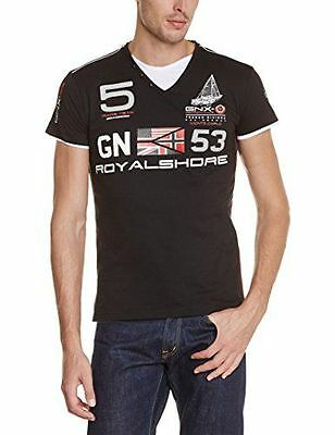 Geographical Norway Jeblag T-Shirt manches courtes Homme Noir FR : L NEUF