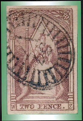 c. 1852 Victoria Australia QV 2d Queen on Throne Stamp POSTCARD Size Photo Print