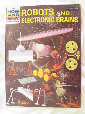 ROBOTS And ELECTRONIC BRAINS - How and Why Wonder Book 1970 -Children's Science