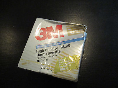 "NEW 3M Formatted IBM Double Sided (DS) High Density (HD) 10 5 1/4"" Floppy Disks"