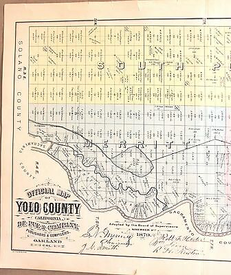 Official Maps of Yolo County, California 1879 - 6 Map Set from the Atlas