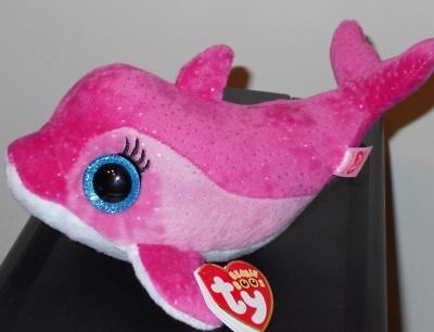 304a82707b0 TY BEANIE BOOS ~ SURF the Pink Dolphin (6 Inch) NEW MWMT -  14.90 ...