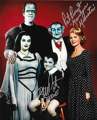 Butch Patrick & Pat Priest Dual Signed 8X10 Color Munsters Family Pic Autographs