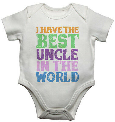I Have the Best Uncle in the World, New Personalised Baby Vests Bodysuits