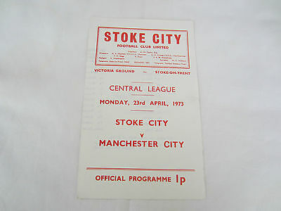 1972-73 CENTRAL LEAGUE RESERVES STOKE CITY v MANCHESTER CITY