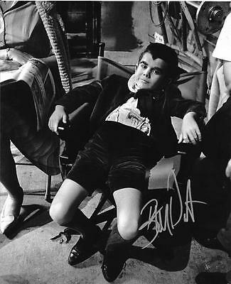 Butch Patrick 'Eddie Munster' Signed 8X10 B&W On Set Photo Autograph