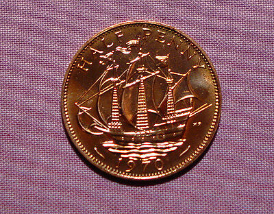 1970 ROYAL MINT PROOF HALFPENNY COIN - Last Ever Issue