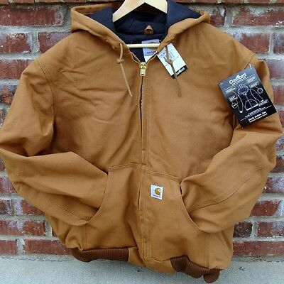 Carhartt J140 Active Jacket Flannel Lined Brown Large