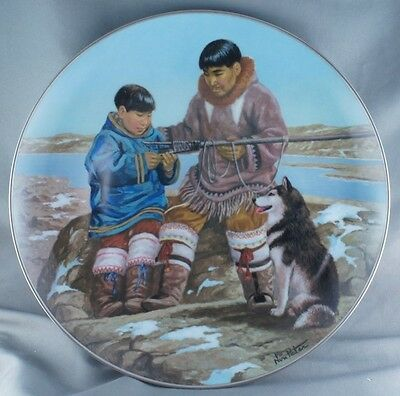 Nori Peter Odark and son Samik People of the Midnight Sun Collector Plate
