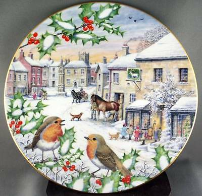 Peter Barrett Yorkshire Yuletide Collector Plate All Creatures Great & Small Dec